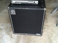 Used amplifier and cabinet for sale.  These were used