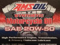 Amsoil Motorcycle Oil and filter for Harley MC 20w-50