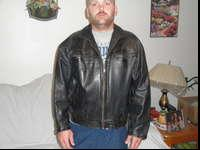 This Leather coat is made from heaver leather and would
