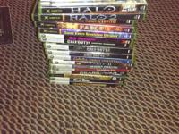 Assortment of mostly xbox games for sale with a few
