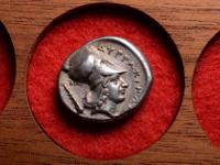 "An ancient Greek silver stater of ""Corinth type"","