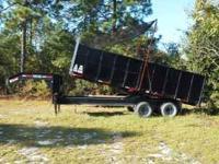 20'x8'x4' 10 ton gooseneck dump trailer. Fresh