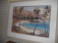 Andrea Beloff framed print, called 'Hide Tide'. Frame