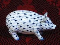 What a darling Pig! Hand painted porcelain in a