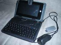 "7"" google android 2.2 tablet netbook w/ accessories,"