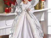 Beautiful Collectible Angel Doll, worn sparkling silver
