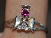 PERFECT FOR VALENTINES DAY! simulated ruby and CZ RING