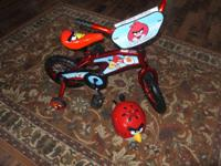 Adorable Angry Bird Bike and Helmet. Bought it for my