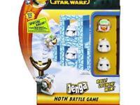 With the Angry Birds Star Wars Jenga Launcher Pack -