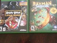 Selling Angry Birds Starwars and Rayman Legends, both