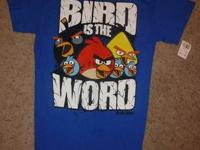 Angry Birds T Shirt  Excellent Condition  New: Tags are