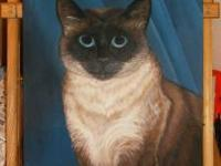 I specialize in painting your outstanding pets. Whether