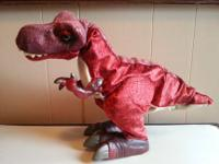 Animated walking Tyrannosaurus Rex toy. This dinosaur