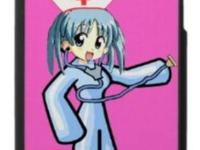 Cute anime nurse with stethoscope. Awesome and vibrant