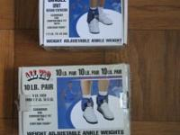 ANKLE WEIGHTS in original box (with 34.99 price tags on