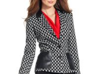 Step into fall with Anne Klein's printed blazer
