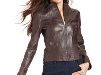 Buttery leather lends a luxe touch to Anne Klein's