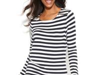 Classic stripes give Anne Klein's pretty top timeless
