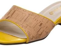 Cork top with patent trim updated the timeless slide