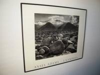 "A large (29"" wide x 24"" high) black framed Ansel Adams"