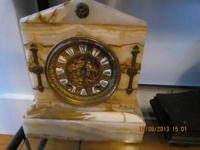 Ansonia Marble Mantle Clock with Visible Escapement 10
