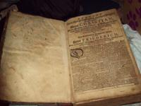 17TH CENTURY GERMAN BIBLE  HAS CONDITION ISSUES