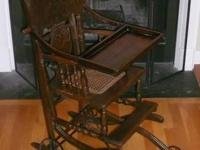Antique 1800's High chair / Stroller - This is