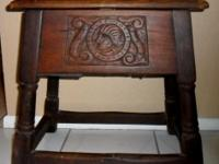 1840'S - 1850'S GOTHIC STYLE PROVISIONAL (FOOD) BENCH.