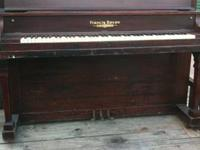 For sale is an antique 1913 Francis Bacon upright piano