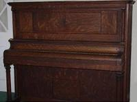 ANTIQUE 1914 TALE CLARK UPRIGHT PIANO- SOLID TIMBER,
