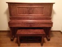 Classic 1918 Grinnell Bros Player Piano in Great Shape!