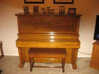 JW Jenkins Sons Music Company 1920 Upright Grand Piano