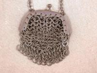 Antique/ Vintage Chain Link Mesh Silver Tone Made in
