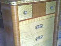 Antique 1930's-40's tall chester drawer with mirror and