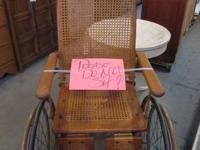 Antique 1940's Wheelchair.  $475.00.  GENTLY USED. Open