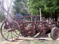 1st - 3rd pics - Antique Oliver 2 bottom plow with