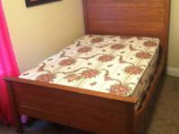 Have a beautiful antique 3/4 size bed frame, mattress