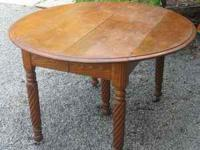 This is a really cool oak table with a rare assortment