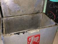 Antique 7-UP ice chest.  I create brand-new home