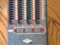 Blue Antique Adding Machine. Good condition.