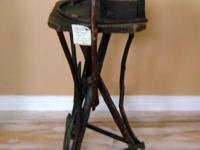 Antique Adirondack Bentwood Twig Side Table Stand from