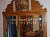 Oak Mirror is from the Moore-Shafer Shoe Manufacturing