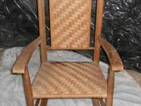 Antique all natural wicker rocker barely made use of.