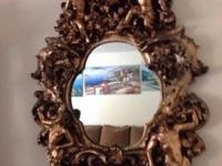 Antique mirror Large ornate Beautiful mint condition