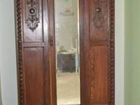 Gorgeous antique armoire for sale. Solid wood