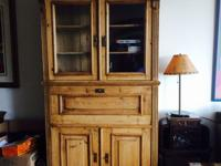 Beautiful antique armoire and writing desk which stands