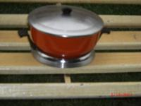 I HAVE A ANTIQUE ART DECO FONDUE WARMING CHAFING POT