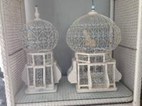 2 ART DECO ORNAMENTAL BIRDCAGES BY RENOWNED ARTIST A