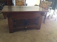 4 Emperor's Chairs and Coffee Table - durable elm wood,
