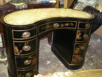 Very nice Kidney Shaped Desk or Vanity Made by Maddox